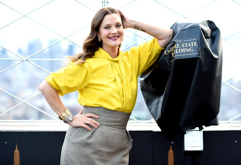 "Actress Drew Barrymore, who has a new daytime chat show, opened up in a revealing interview about her troubled past which included being blacklisted at age 12. (Photo: Dimitrios Kambouris/""Getty Images for Empire State Realty Trust)"