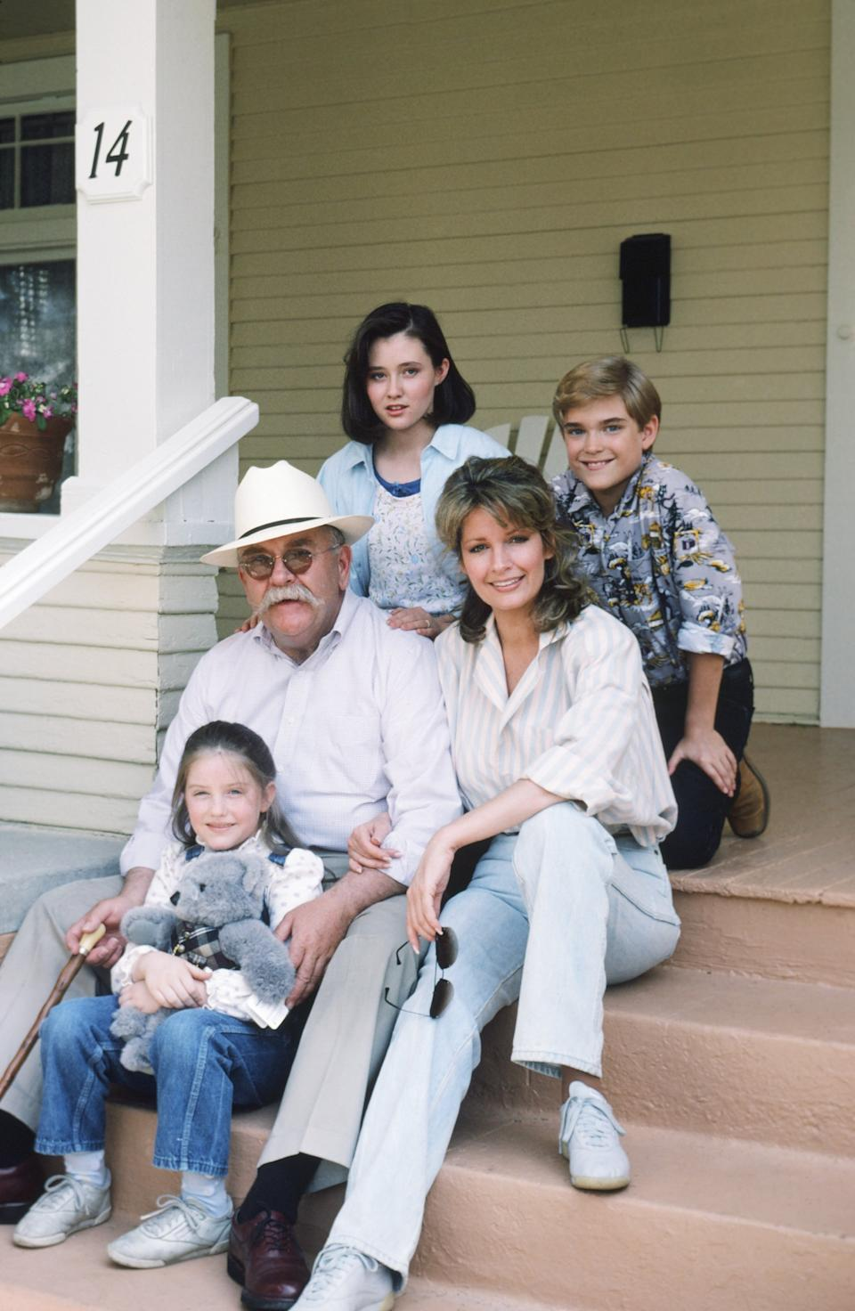 OUR HOUSE -- Season 1 -- Pictured: (clockwise, top left) Shannen Doherty as Kris Witherspoon, Chad Allen as David Witherspoon, Deidre Hall as Jessica 'Jessie' Witherspoon, Keri Houlihan as Molly Witherspoon, Wilford Brimley as Gus Witherspoon -- Photo by: Frank Carroll/NBCU Photo Bank