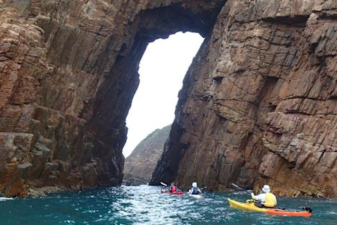 Basalt Island is also known for its sea arches and sea caves. Photo: Cameron Dueck