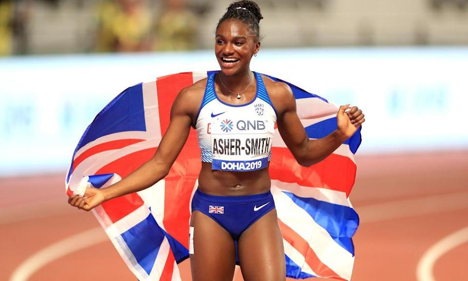 Dina Asher-Smith won 100m and 200m golds at the 2019 world championships