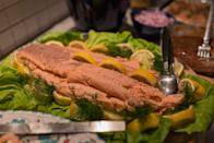 "<p>Another state that often adheres to the mandates of the Feast of Seven Fishes. Hence, you know, always all the fish!</p><p>Get the <a href=""https://www.delish.com/cooking/recipe-ideas/g2992/weeknight-seafood-dinners/"" rel=""nofollow noopener"" target=""_blank"" data-ylk=""slk:recipe"" class=""link rapid-noclick-resp"">recipe</a>.</p>"