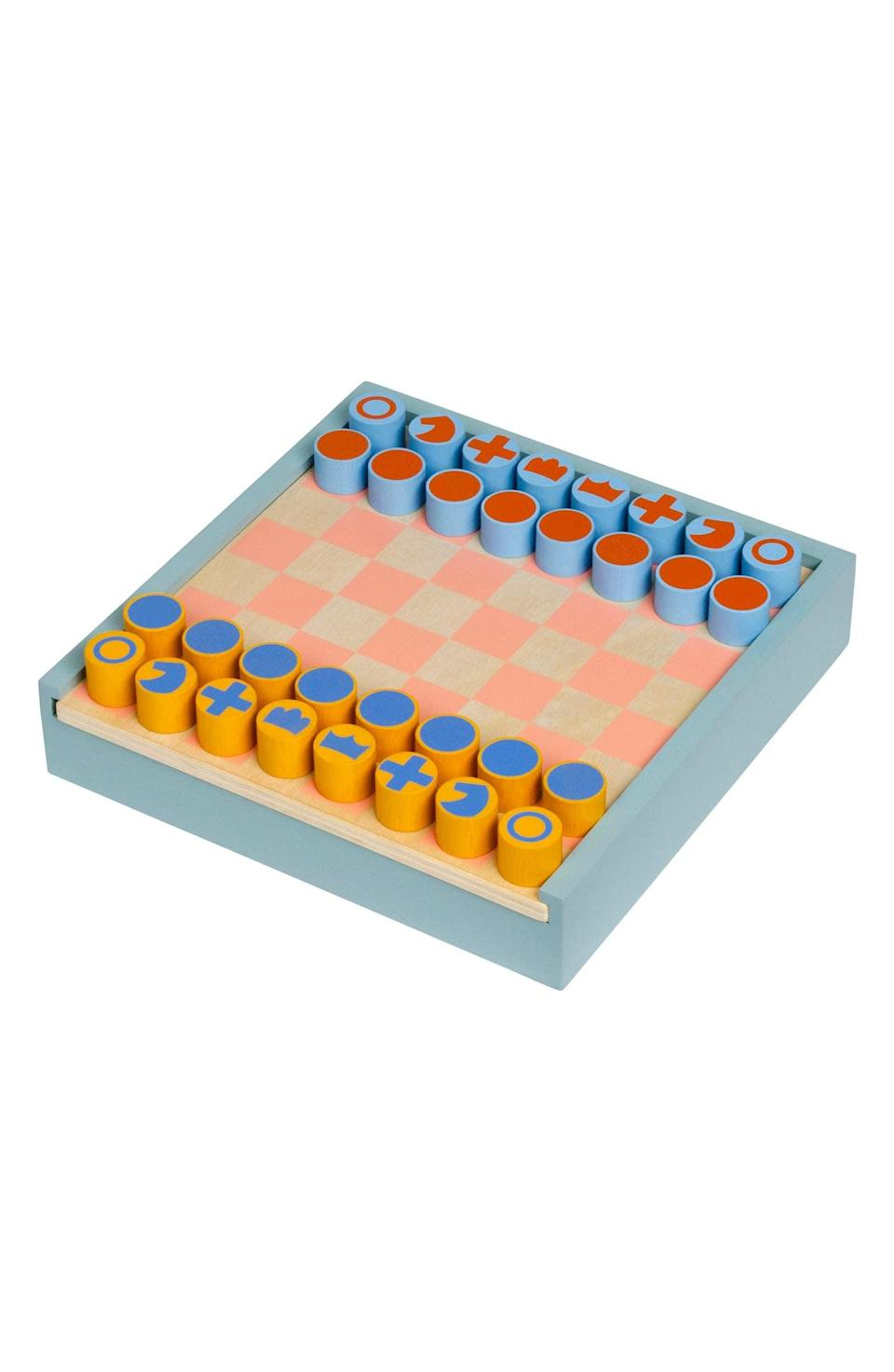 <p>This <span>MoMA Design Store Two-in-One Chess &amp; Checkers Set</span> ($55) is both fun and decorative.</p>