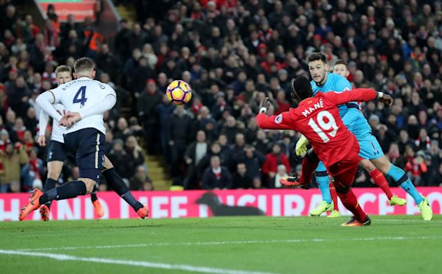 Premier League: Mane double powers Liverpool to victory over Spurs