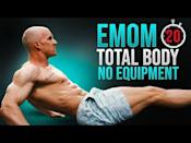 """<p>Choose from three levels in this scalable EMOM workout. Choose level one if you're newer to exercise and level three if you feel like a proper challenge. </p><p><a href=""""https://www.youtube.com/watch?v=mUW0sk1HocI&ab_channel=UPGRADEX"""" rel=""""nofollow noopener"""" target=""""_blank"""" data-ylk=""""slk:See the original post on Youtube"""" class=""""link rapid-noclick-resp"""">See the original post on Youtube</a></p>"""