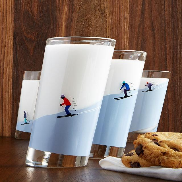 "Unconventional, but definitely conversational, these holiday-neutral ski slope <a href=""https://www.glamour.com/gallery/gifts-for-wine-lovers?mbid=synd_yahoo_rss"" rel=""nofollow noopener"" target=""_blank"" data-ylk=""slk:glasses"" class=""link rapid-noclick-resp"">glasses</a> promise to be a hit whether your giftee is an accomplished skier or not. Made in Italy and decorated in the U.S., they can also be used to hold <a href=""https://www.glamour.com/about/snacks?mbid=synd_yahoo_rss"" rel=""nofollow noopener"" target=""_blank"" data-ylk=""slk:snacks"" class=""link rapid-noclick-resp"">snacks</a> (like pretzel rods) or sweets (lollipops) for easy access. $58, Uncommon Goods. <a href=""https://www.uncommongoods.com/product/sloping-ski-glasses"" rel=""nofollow noopener"" target=""_blank"" data-ylk=""slk:Get it now!"" class=""link rapid-noclick-resp"">Get it now!</a>"