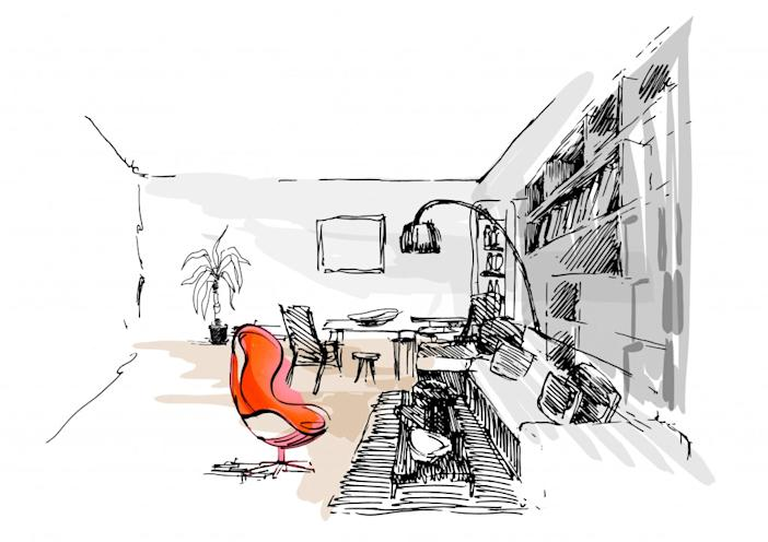 AirbnbxG-Dragon_Dukyang Studio_Sketch-dining room