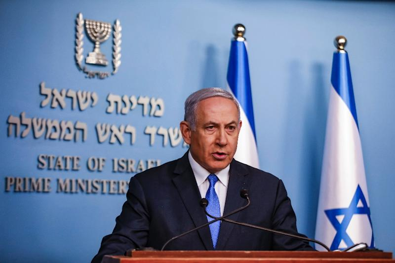 Netanyahu has portrayed himself as Israel's essential statesman, hoping his long tenure in office will help put him ahead in the polls (AFP Photo/Menahem KAHANA)
