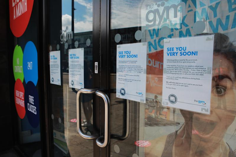 Gym chain TheGym in Southampton remains closed as lockdown restrictions have been relaxed to allow non-essential shops to reopen in England