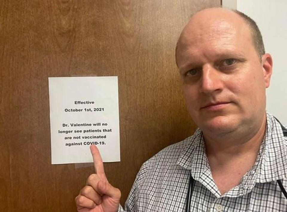 Dr. Valentine, an Alabama doctor refuses to treat anyone who is unvaccinated