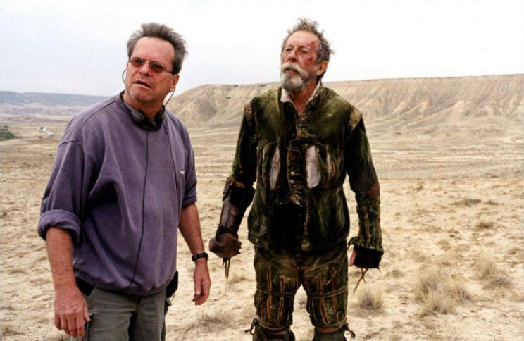 Wrapped… Terry Gilliam has finally wrapped his 'cursed' Don Quixote movie – Credit: Low Key Productions