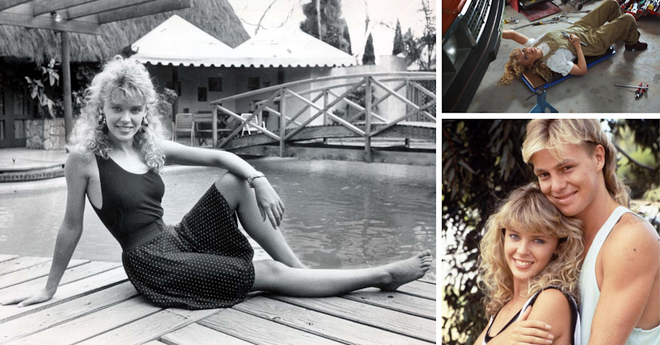 Kylie joined Neighbours in 1986 as tearaway mechanic Charlene Mitchell. Photo: instagram/@kylieminogue