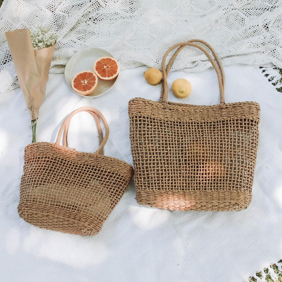 Thinc Eco Woven Shopping Bag, $69.95 for large and $59.95 for small. Photo: supplied.
