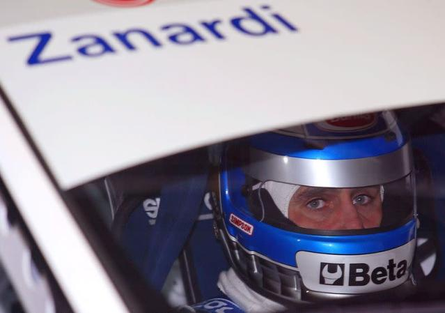 FILE PHOTO: ITALIAN DRIVER ZANARDI SEATS IN TO HIS CAR DURING THE FREE PRACTICES INMONZA.