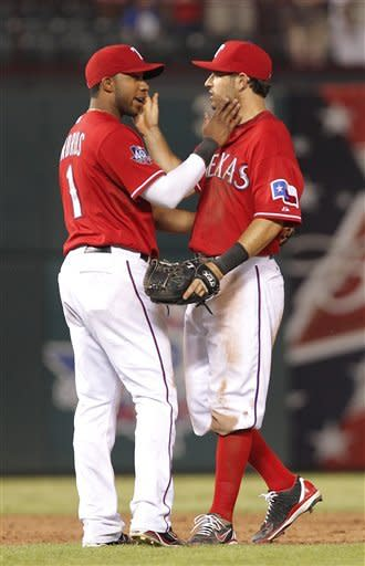 Gentry's triple lifts Rangers past A's 4-3