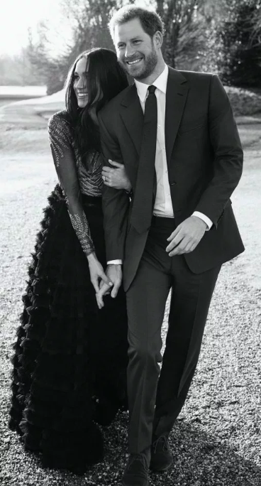 Prince Harry and Meghan had engagement photos taken at Frogmore House Source: Getty