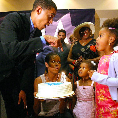 "<p>""Another year older, but the same phenomenal guy I married nearly 25 years ago,"" the former first lady captioned this sweet throwback of her hubby and their girls. ""Happy birthday, @BarackObama — we love you so much!"" (Photo: <a href=""https://www.instagram.com/p/BXYClOOg-IP/?hl=en&taken-by=michelleobama"" rel=""nofollow noopener"" target=""_blank"" data-ylk=""slk:Michelle Obama via Instagram"" class=""link rapid-noclick-resp"">Michelle Obama via Instagram</a>) </p>"