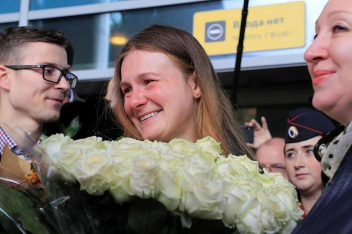 Convicted Russian agent Butina, who was deported after U.S. jail release, arrives in Moscow