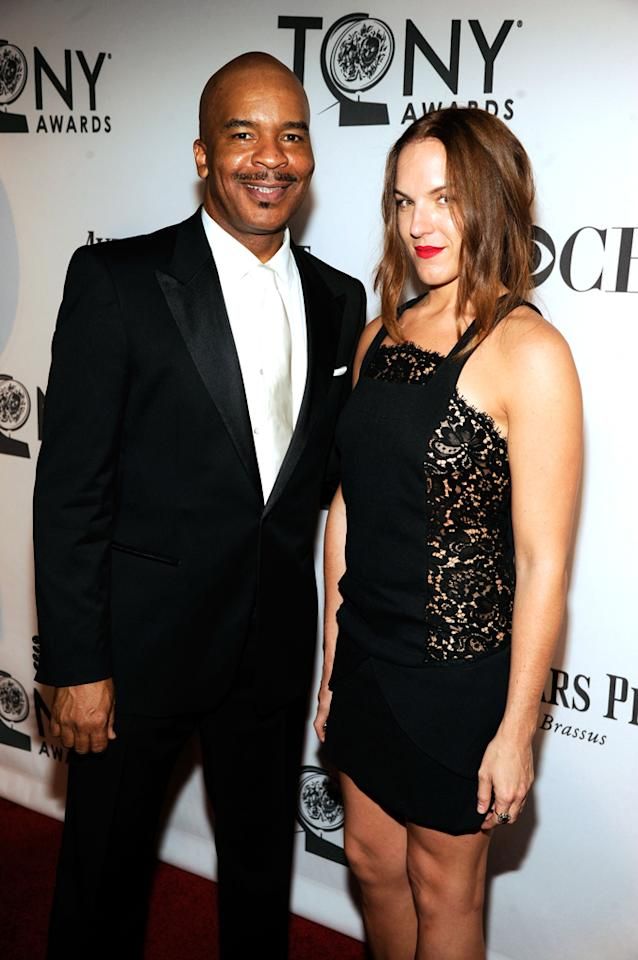 David Alan Grier and guest attend the 66th Annual Tony Awards at The Beacon Theatre on June 10, 2012 in New York City.