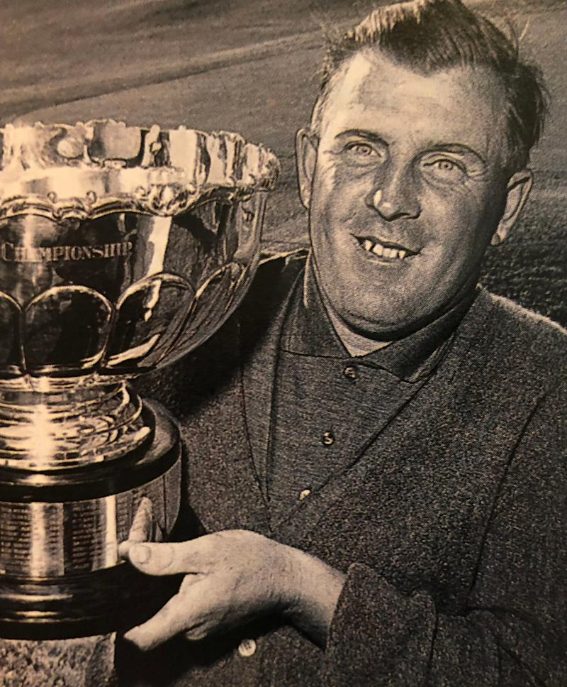 Norman after winning the 1963 Ontario Open. He only had a brief time on the U.S. PGA Tour