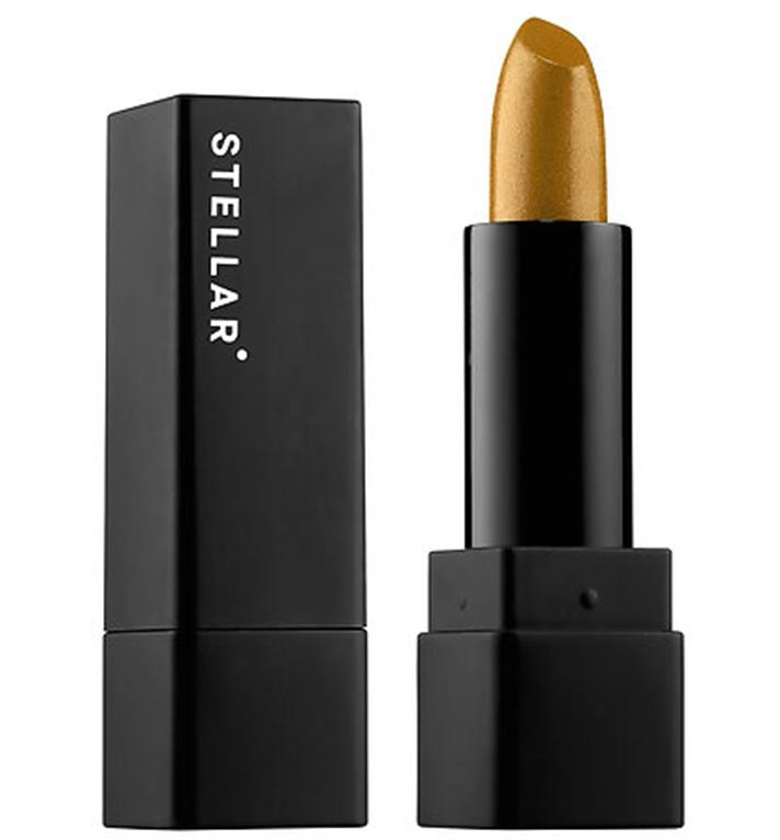 "Stellar <span>Metallic Moon Lipstick in Disco Moon 04</span>, $22; at <a rel=""nofollow"" href=""http://www.sephora.com/metallic-moon-lipstick-P417153?skuId=1903673&icid2=products%20grid%3Ap417153"" rel="""">Sephora</a>"