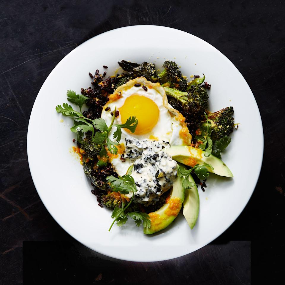 """<a href=""""https://www.bonappetit.com/recipe/stir-fried-black-rice-with-fried-egg-and-roasted-broccoli?mbid=synd_yahoo_rss"""" rel=""""nofollow noopener"""" target=""""_blank"""" data-ylk=""""slk:See recipe."""" class=""""link rapid-noclick-resp"""">See recipe.</a>"""