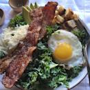 """<p>Your favorite breakfast sandwich ingredients ON KALE? You read that correctly—and it's <em>delicious</em>.</p><p>Get the recipe from <a href=""""https://www.delish.com/cooking/recipe-ideas/recipes/a45473/bacon-egg-cheese-kale-salad-recipe/"""" rel=""""nofollow noopener"""" target=""""_blank"""" data-ylk=""""slk:Delish"""" class=""""link rapid-noclick-resp"""">Delish</a>.</p>"""