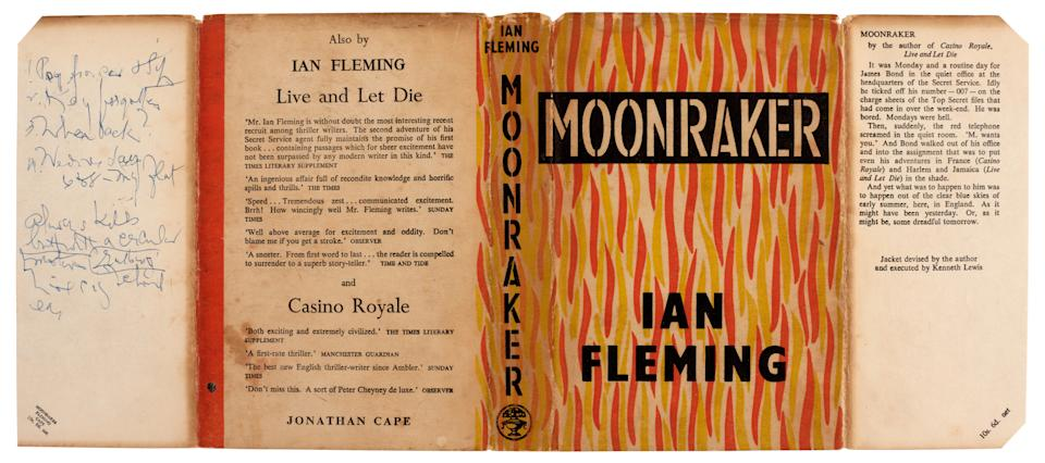 A first edition presentation copy of Moonraker inscribed to Raymond Chandler (Sotheby's/PA)