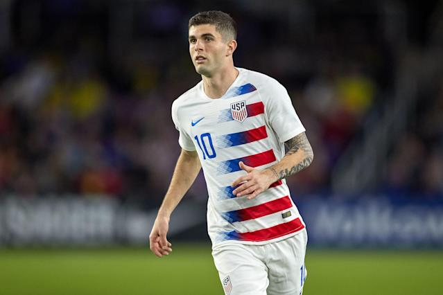 USMNT midfielder Christian Pulisic will be sidelined 3-4 weeks with a quad injury, according to an ESPN report. (Getty)