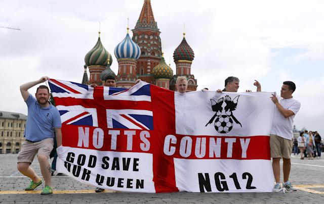 England fans have started gathering in Moscow – but not many of them