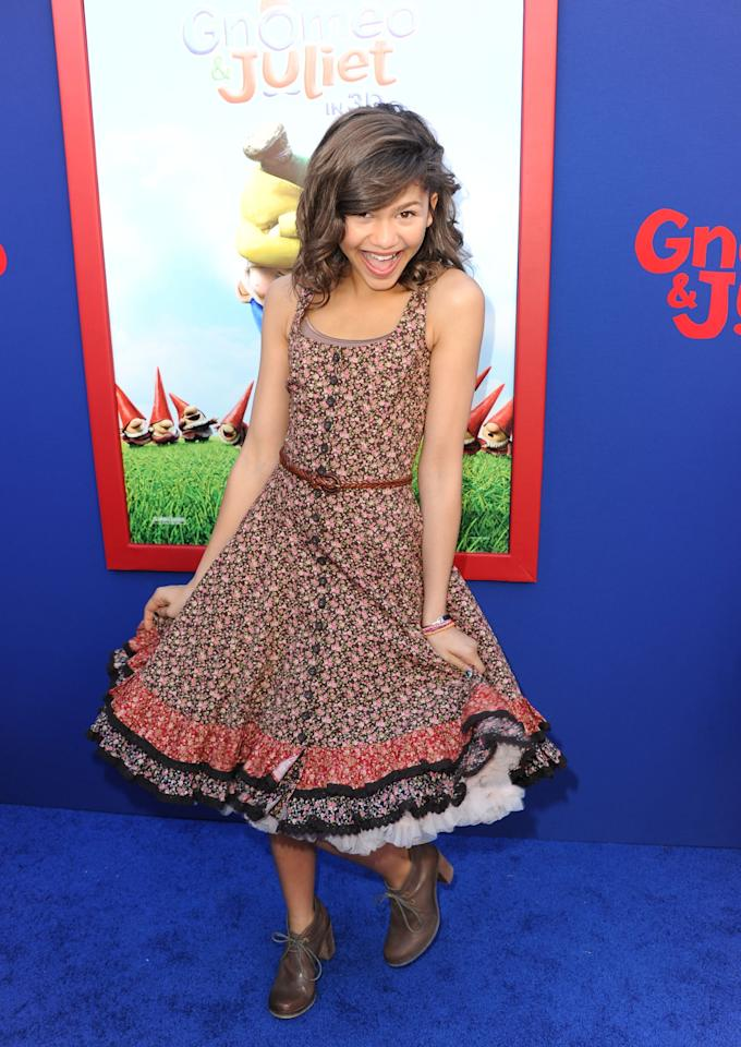 <p>The actress walked the red carpet at the Hollywood premiere of <b>Gnomeo and Juliet</b>.</p>