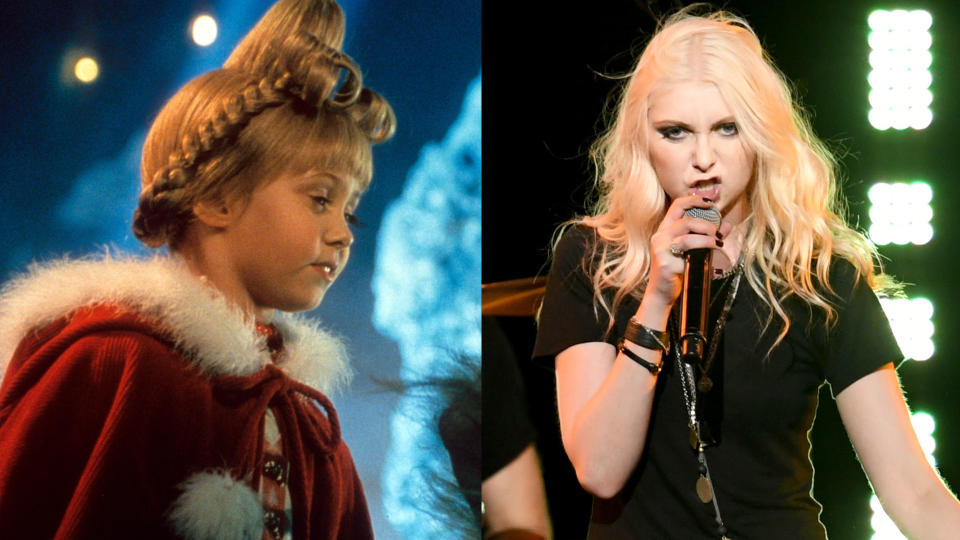 Taylor Momsen went from the adorable Cindy Lou Who to the frontwoman of rock band The Pretty Reckless. (Credit: Universal/Getty/Jeff Kravitz/FilmMagic)