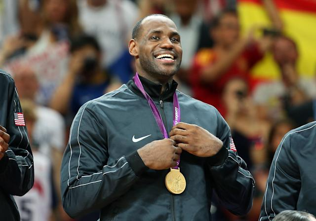 Bring home another gold, LeBron. (Getty)