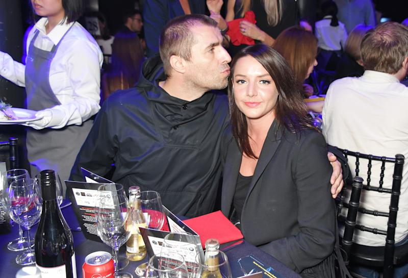 LONDON, ENGLAND - OCTOBER 18: Liam Gallagher (L) and Debbie Gwyther attend The Q Awards 2017, in association with Absolute Radio, at The Roundhouse on October 18, 2017 in London, England. (Photo by David M. Benett/Dave Benett/Getty Images)