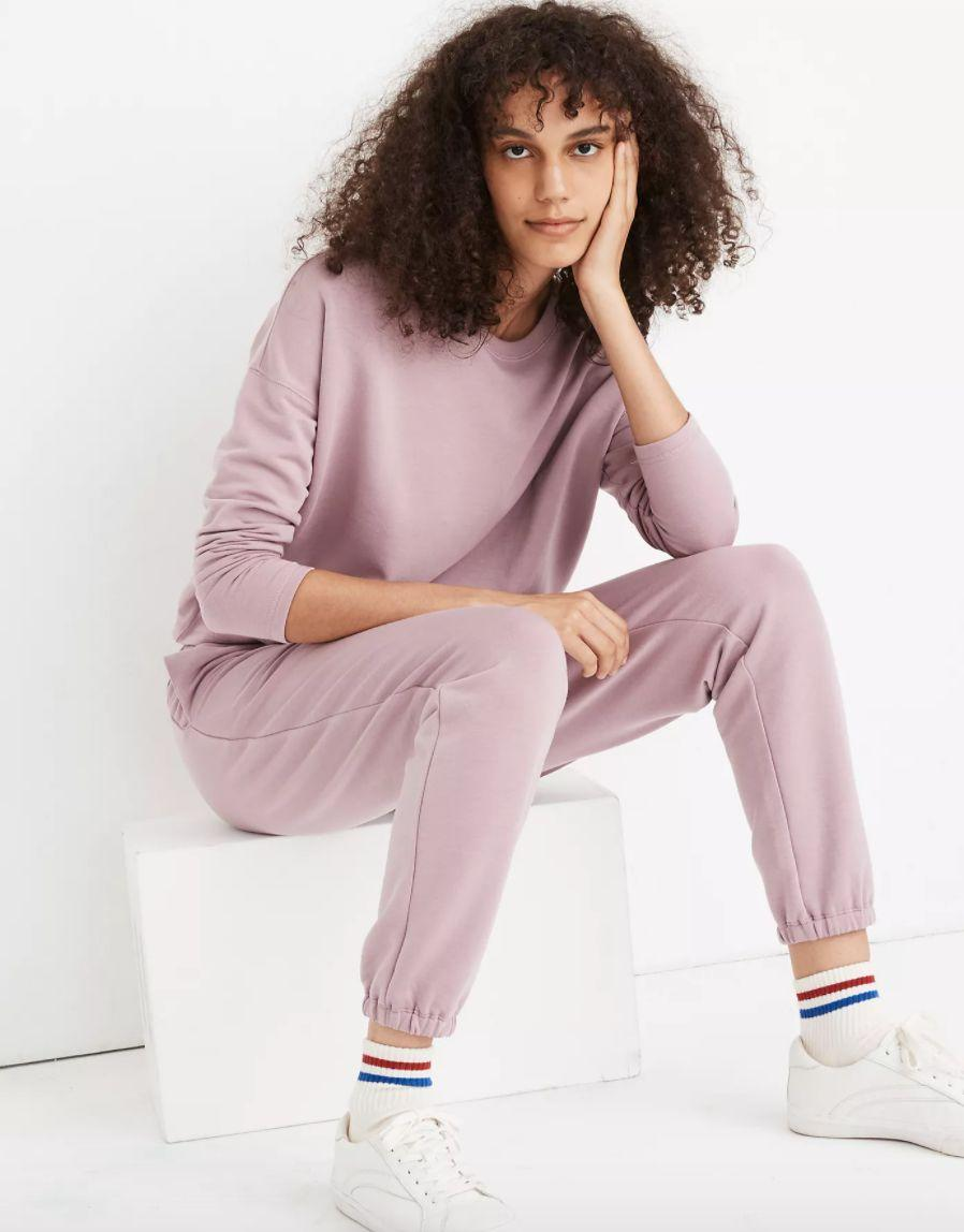 "<a href=""https://fave.co/3dICfb4"" target=""_blank"" rel=""noopener noreferrer"">Find them for $75 at Madewell</a>. These also come in ""icy heather"" (gray) and ""black coal"" colors."