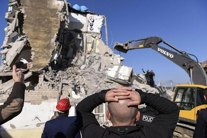 Many of the dead were pulled from the ruins of collapsed buildings in the coastal city of Durres and the nearby town of Thumane (AFP Photo/Armend NIMANI)