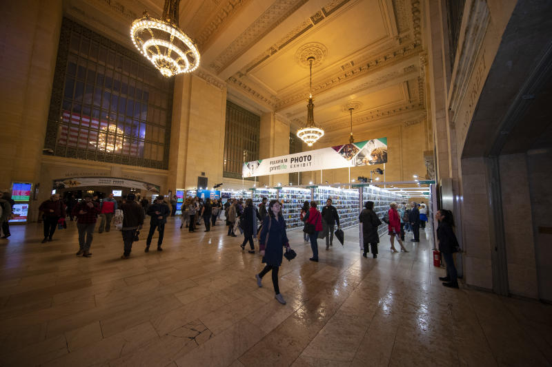The Fujifilm Printlife Photo Exhibit at Vanderbilt Hall inside New York City's landmark Grand Central Terminal. (Photo: Gordon Donovan/Yahoo News)