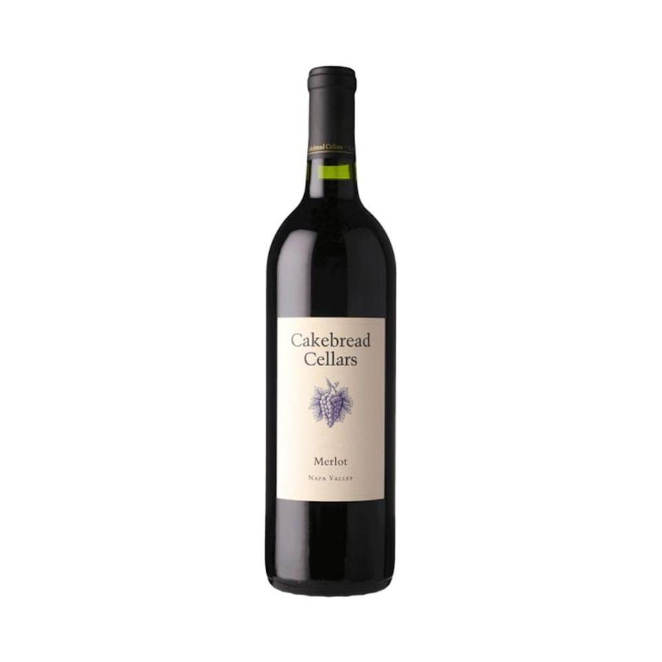 """<p><strong>Cakebread Cellars</strong></p><p>shop.cakebread.com</p><p><strong>$54.00</strong></p><p><a href=""""https://shop.cakebread.com/SHOP.AMS?LEVEL=BOT&PART=1ME0716"""" rel=""""nofollow noopener"""" target=""""_blank"""" data-ylk=""""slk:Shop Now"""" class=""""link rapid-noclick-resp"""">Shop Now</a></p><p>Enologist-turned-winemaker Stephanie Jacobs heads up Napa Valley's popular Cakebread Cellars — a winery she's been working with since 2004. Highly rated by Robert Parker's Wine Advocate, this splurge-worthy merlot is luscious with notes of juicy black fruit.</p>"""