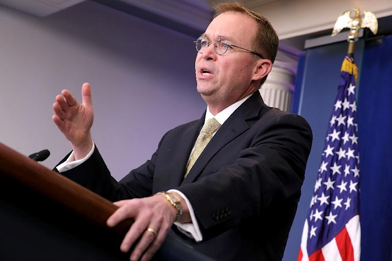 Acting White House chief of staff Mick Mulvaney, seen in this file photo from December 14, 2018, has said Democrats will 'never' see President Donald Trump's tax returns