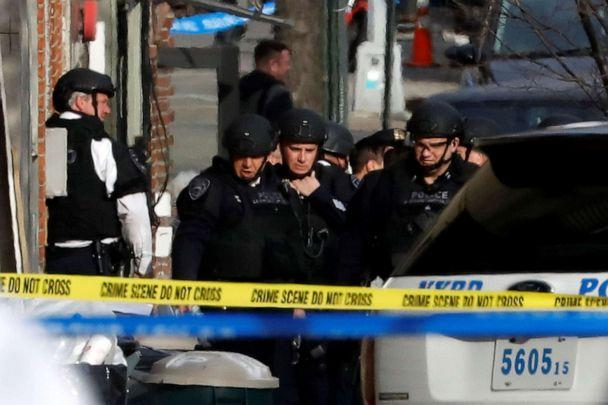 PHOTO: In this March 6, 2017, file photo, New York City Police Department (NYPD) Emergency Services officers work at the scene of a standoff in Brooklyn, NY. (Brendan McDermid/Reuters, FILE)