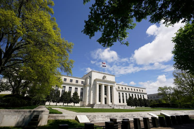 FILE PHOTO: FILE PHOTO: The Federal Reserve on Mayday in Washington