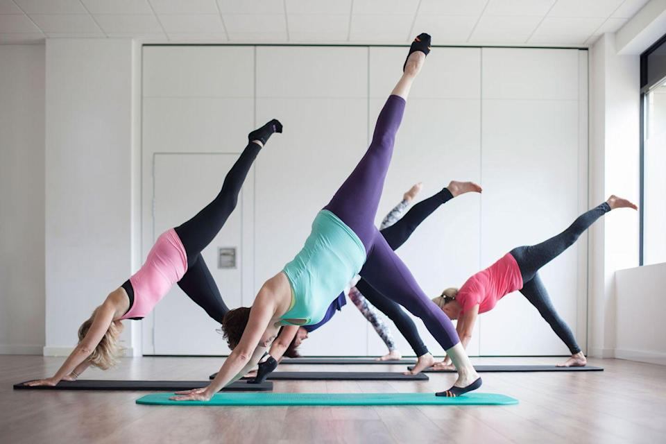 <p>As pilates and barre exercises generally adapt a more slow and steady workout burn than, say, a sprint interval session, you won't need quite as much pre-workout fuel.</p><p>Instead, opt for a light snack with plenty of time to spare pre-session, to make sure your blood sugar levels are stable enough for the class but you haven't overloaded yourself, either.</p><p>'For a pilates session opt for slower releasing carbohydrates and a source of protein. Opt for a snack around one hour before the session. A few snacks would include Greek yoghurt with berries and cinnamon, apple with peanut butter, carrots and hummus or a boiled egg on an oat cake,' says Hope.<br></p>