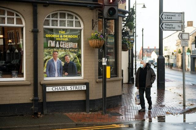 Window displays in Abergele, North Wales, ahead of the launch of the new series of I'm A Celebrity… Get Me Out Of Here! which is taking place at Gwrych Castle