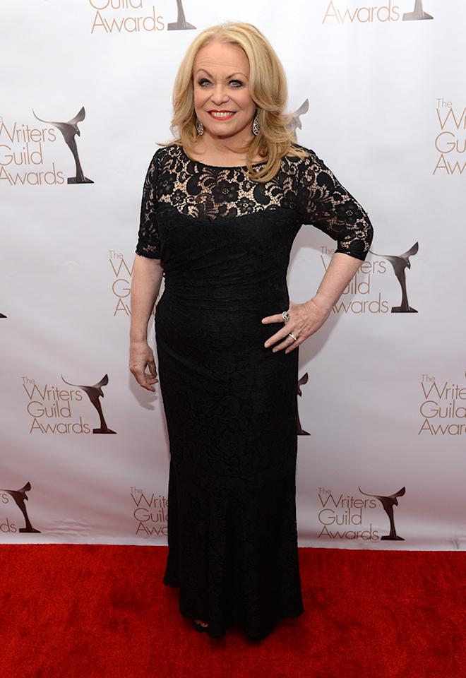 Jacki Weaver arrives at the 2013 WGAw Writers Guild Awards at JW Marriott Los Angeles at L.A. LIVE on February 17, 2013 in Los Angeles, California.  (Photo by Jason Kempin/Getty Images for WGAw)