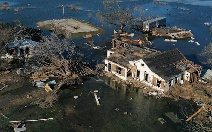 Creole, in Louisiana, was where the hurricane made landfall on FridayGetty Images