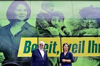"""The Greens' Annalena Baerbock is set to play """"kingmaker"""" as Germany's polls predict a knife-edge contest (AFP/John MACDOUGALL)"""