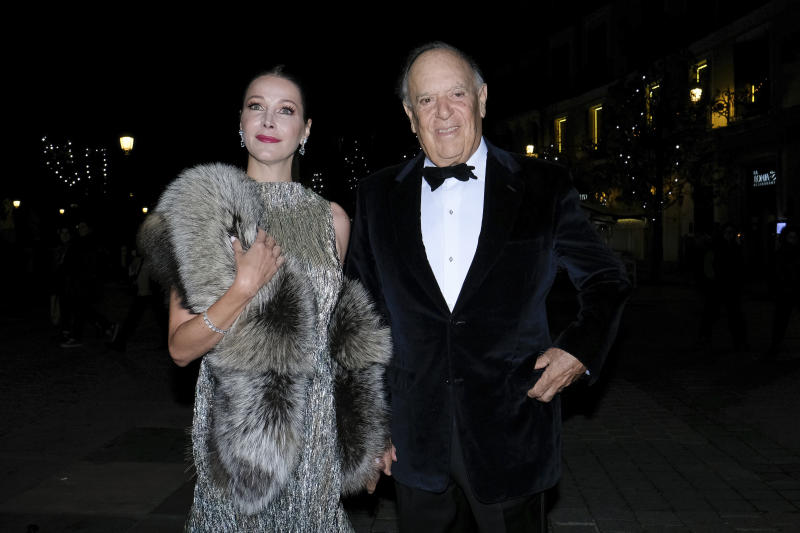 Carlos Falco and Esther Doña at arrival for Vanity Fair Personality of Year Awards 2019 , in Madrid, Spain, on November 25, 2019.(Photo by Oscar Gonzalez/NurPhoto via Getty Images)