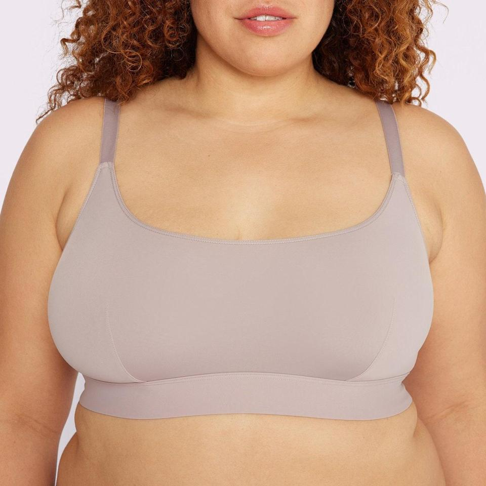 """Parade's best-selling scoop bralette is made from the brand's signature Re:Play fabric—a custom blend of spandex, breathable cotton, and ultra-soft recycled yarns that was developed by ex-Lululemon product experts. Need we say more? $28, Parade. <a href=""""https://yourparade.com/products/scoop-bralette-replay?variant=39567138029616"""" rel=""""nofollow noopener"""" target=""""_blank"""" data-ylk=""""slk:Get it now!"""" class=""""link rapid-noclick-resp"""">Get it now!</a>"""