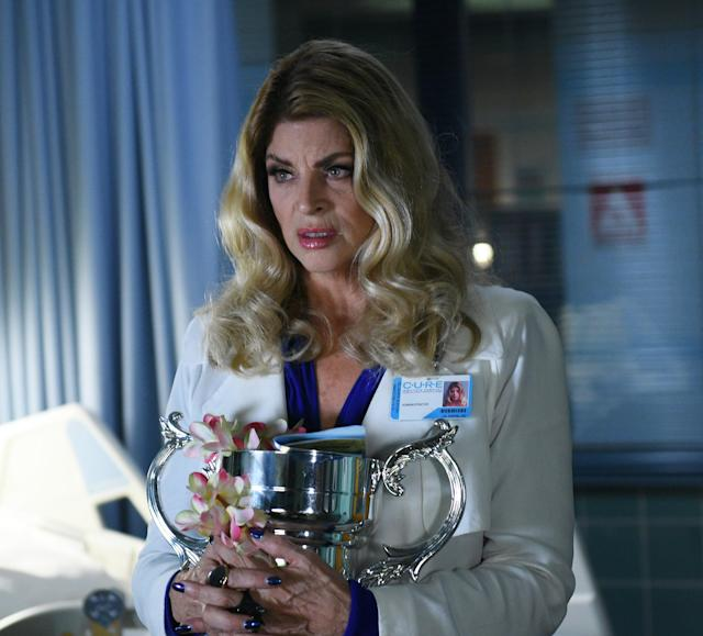 Kirstie Alley in the all-new Blood Drive episode of SCREAM QUEENS. (Getty Images)