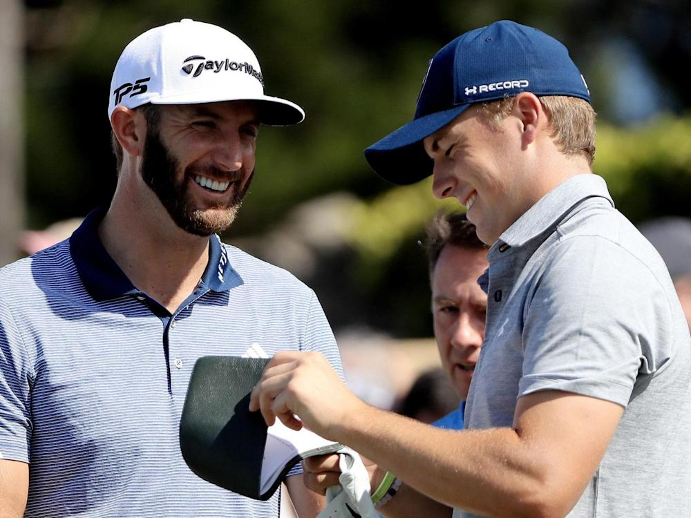 Johnson and Spieth go into the Masters as the two favourites (Getty)