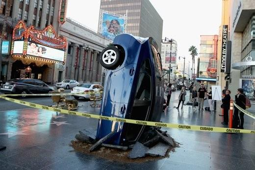 How 'The Grand Tour' faked dropping a Prius into the Hollywood Walk of Fame